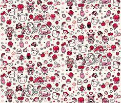 Kawaii fabric by babybubbleco on Spoonflower - custom fabric