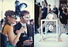 Casamento temático em estilo carnaval de Veneza…