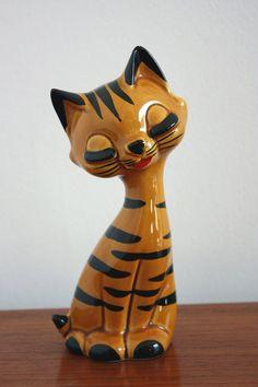Cute & Kitsch Vintage Orange Cat Ceramic by janestangerinehouse, £18.00