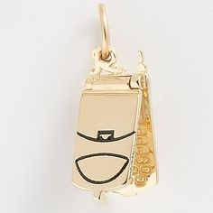 Flip Open Cell Phone Charm $52.50 http://www.charmnjewelry.com/category/Hobby_and_Profession_Charms.htm #GoldCharm  #CharmnJewelry  #RembrandtCharms