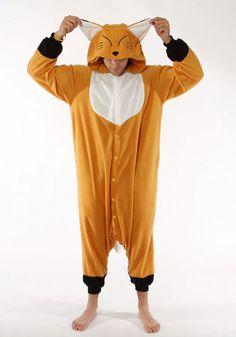 Kigurumi Shop | Fox Kigurumi - Animal Costumes & Pajamas by Sazac | everyone can wear this costume and do What Does the Fox Say for Halloween!