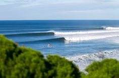 The line up shot for competitors at The Rip Curl Bells Beach Easter Classic. Melbourne, Victoria. Australia