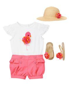 Fluffy Flamingo Chick Gymboree