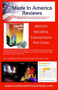 Tossing pine cones into the fire is an old tradition but using Meeco's colored flame pine cones promises to provide an experience unlike any other. American Manufacturing, Into The Fire, Made In America, Pine Cones, Traditional, Check, How To Make, Color, Colour