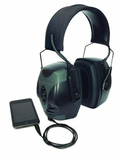 Amazon.com: Howard Leight by Honeywell R-01902 Impact Pro Sound Amplification Electronic Earmuff, Black: Sports & Outdoors
