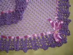 mantas em croche coloridas para bebe - Bing Imagens Crochet Necklace, Satin Ribbons, Crocheted Afghans, Line, Shopping, Sweater Vests