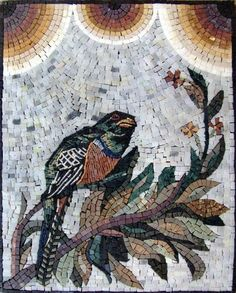"""16x20"""" Awesome Bird Marble Mosaic Art Tile Wall Decor by Mozaico. $160.00. All natural stones. Completely hand-made. Uses and display locations are unlimited!. Design can be customized as to size and / or colors. Mesh backing. Mosaics have endless uses and infinite possibilities! They can be used indoors or outdoors, be part of your kitchen, decorate your bathroom and the bottom of your pools, cover walls and ceilings, or serve as frames for mirrors and paintings."""