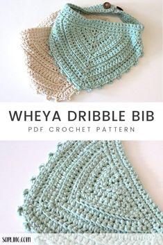 Modern, simple and stylish crochet patterns by SarlingCrochet Crochet Baby Bibs, Crochet Baby Clothes, Cute Crochet, Baby Blanket Crochet, Crochet For Kids, Crochet Crafts, Baby Knitting, Crochet Projects, Crotchet
