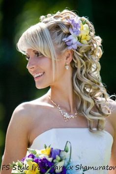 Curly bridal hairstyle | Farrux Shamuratov