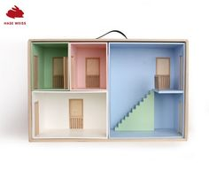 Hase Weiss portable stackable dollhouse