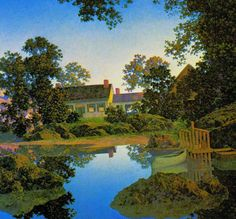 Peace Of The Evening Maxfield Parrish  Vintage by SurrenderDorothy, $13.89