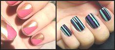 Rayas en las uñas con celo - DIY