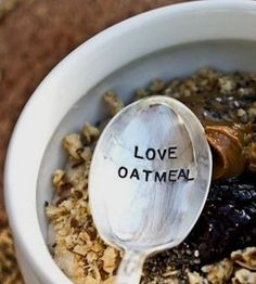 Love Oatmeal Stamped Spoon