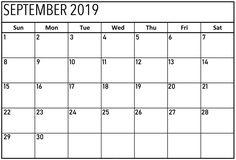 September 2019 Fillable Calendar: September 2019 Fillable Calendar Printable Template with Notes, Fillable September 2019 Calendar PDF, Word, and Excel Excel Calendar, Calendar Layout, Printable Calendar Template, Us Holiday Calendar, December Calendar 2019, Numbers, Backgrounds, Fresh