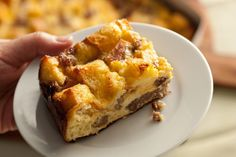 This easy make-ahead casserole recipe has cheddar and Jack cheese, eggs, sausage, and bread baked into a satisfying breakfast or brunch dish.