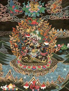 Hayagriva - Protector of Horses in YabYum Father Mother Union Buddhist Symbols, Buddhist Art, Thangka Painting, Mandala Painting, Buddha Buddhism, Tibetan Buddhism, Tibet Art, Vajrayana Buddhism, Art Asiatique