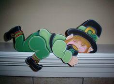 Leprechaun St Patricks Day Shelf Sitter Holiday by giftshop1