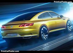 Volkswagen Sport Coupe GTE Concept 2015 poster, #poster, #mousepad, #tshirt, #printcarposter