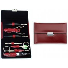 GLAMOROUS LEATHER MANICURE SET FOR WOMEN DIABOLO L BY NIEGELOH