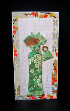 Mika Personalized Dress Card / DL Size / Handmade Greeting Card