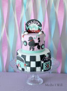 50's Cake Love the Sock Hop Cake!