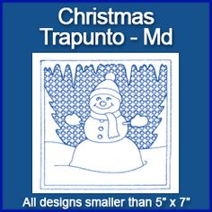 A Christmas Squares Design Pack - Md (Trapunto)
