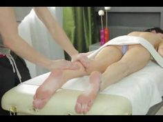 Full Body Massage Therapy Techniques Part 4, Legs Lower Calfs & Upper Thighs - YouTube