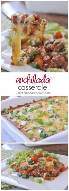 Enchilada Casserole - the same flavor and fun of regular encihladas with less work!  Perfect for your back to school meal planning #delmonte #sponsored
