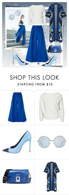 """""""ALL SHADES OF BLUE"""" by ilona-828 ❤ liked on Polyvore featuring Roksanda, Yves Saint Laurent, Karl Lagerfeld, Temperley London, women's clothing, women's fashion, women, female, woman and misses"""