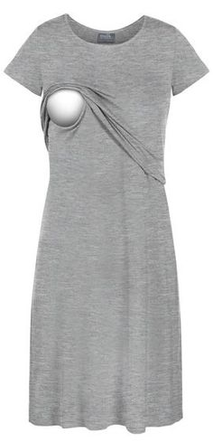 Tee shirt nursing lounge dress - this online store sells cute, comfy nursing clothes #cutematernityclothes