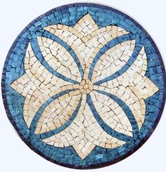 "12"" Accent Marble Mosaic Art Tile Home Decor"