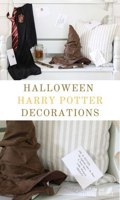 Get inspired with these Halloween decorations for a Harry Potter celebration. DIY step by step tutorial for a Sorcerer Stone style party home decor. Decoration ideas for adults and kids. Craft projects and taste Craft Projects For Adults, Diy Home Decor Projects, Easy Home Decor, Cute Halloween, Halloween Ideas, Halloween Tricks, Halloween Queen, Halloween Books, Halloween Stuff