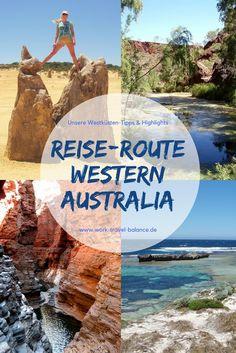 Die Highlights Western Australia, die auf keiner Reise-Route fehlen dürfen! Wir verraten dir unsere Highlights und Geheimtipps für deine Tour entlang der Westküste Australiens - zwischen Perth und Broome. Verpasse nicht die Pinnacles Wüste, die Principality of Hutt River, das Ningaloo Reef, die Shark Bay oder den Karijiny Nationalpark. Alle Infos auf www.work-travel-balance.de