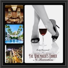 """""""No Reservations"""" by Everly Drummond. The first prequel in The Winemaker's Dinner Feast trilogy. Photos by Dr. Ivan Rusilko and collage by me."""