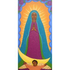 Our Lady of Guadalupe Large Original Painting by Tamara Adams