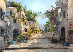Felice Giordano (Napoli, 1880-Capri, 1964) Vicolo di Capri