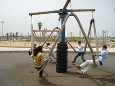 Adults need playgrounds too... I love the ropes