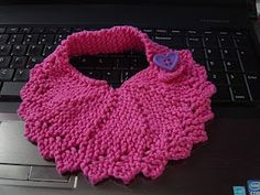 Cheryl's Knitting: dishcloth turned bib - Turned out really cute! Was very simple and fast. Would be really fun and easy to make for a hospital nursery or something of that nature.
