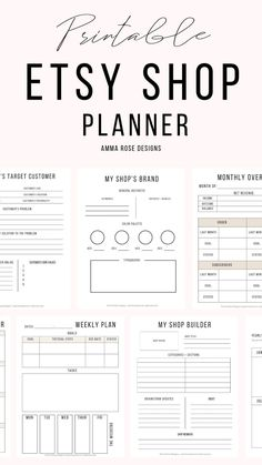 This printable Etsy Shop planner is made to help you get crystal-clear on your priorities and manage your time like a pro! You'll get dedicated sheets for creating your Etsy shop, goal setting, suppliers contact, ad so much more! #etsyshop #etsyseller #etsybusiness