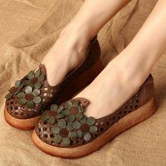 Women vintage comfortable  shoes - Tkdress  - 1