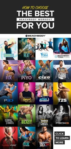 What Is the Best Beachbody Workout Program for You? - Maybe 21 Day Fix is the best workout for you, or maybe you should give Core De Force a try! Stuck o - 21 Day Fix Workouts, Fun Workouts, At Home Workouts, Workout List, Killer Workouts, Workout Schedule, Workout Guide, Workout Ideas, Fitness Diet