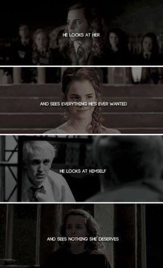 Honestly Dramione would've been better in my opinion *no offense please do not kill me* Harry Potter Ships, Harry Potter Quotes, Harry Potter Love, Harry Potter Fandom, Harry Potter Universal, Harry Potter World, Dramione, Draco And Hermione, Hermione Granger