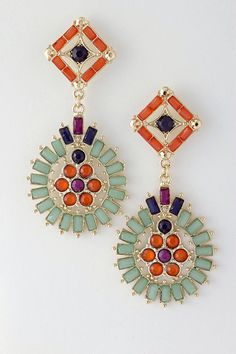 Colorful Claudia Earrings by Belina