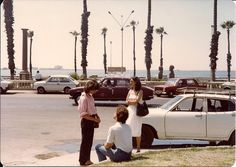 Awaiting help for their broken down car in 1970s Alexandria #Egypt