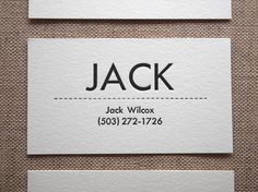 Personalized Letterpress Business or Calling Cards by seabornpress, $70.00