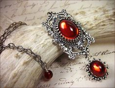 Gothic Cathedral Pendant: Red