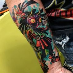 Skull Kid tattoo done by @henrrybravotattooartist.