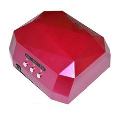 Divalove Professional 36W Nail Dryer LED UV Lamp Light Curing Nail Lamp Lighting Manicure No Harm Quick Dry Gel Nails Polish Nail Art Tools Mani Machine With Timer 10 30 60 Second Rose Red -- Want additional info? Click on the image.