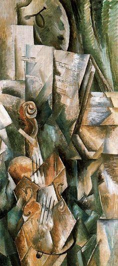 Violín y paleta (1910) Giacomo Balla