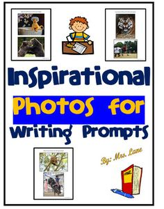 Download and print these handy inspirational photos to use as writing prompts. Laminate for durability. Display on the Elmo or projector for morning work to get students minds and creativity activated. These could also be used in a literacy workstation!